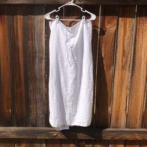 Lane Bryant | White Linen Maxi Skirt